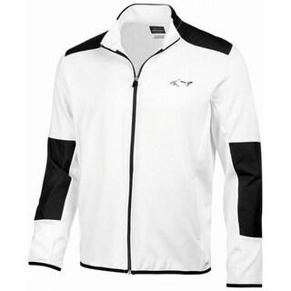 Greg Norman White Mens Size XL Hydrotech Colorblocked Fleece Jacket