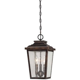 The Great Outdoors 72174-189 3 Light Lantern Pendant from the Irvington Manor Collection - chelesa bronze