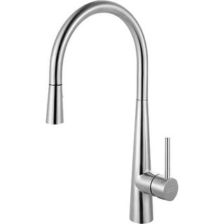 Franke FF3450 High-Arch Gooseneck Single Lever Handle Pull-Out Spray Kitchen Faucet - STAINLESS STEEL - n/a