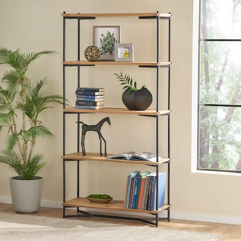 Gadd Acacia Wood Bookcase by Christopher Knight Home