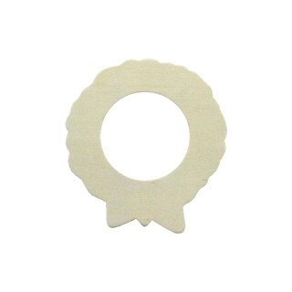 "Darice Wood Shape Unfin 4"" Wreath"