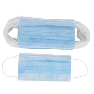 Unique Bargains Unisex Mouth Nose Protective Dust Proof Disposable Earloop Face Mask Blue 50PCS