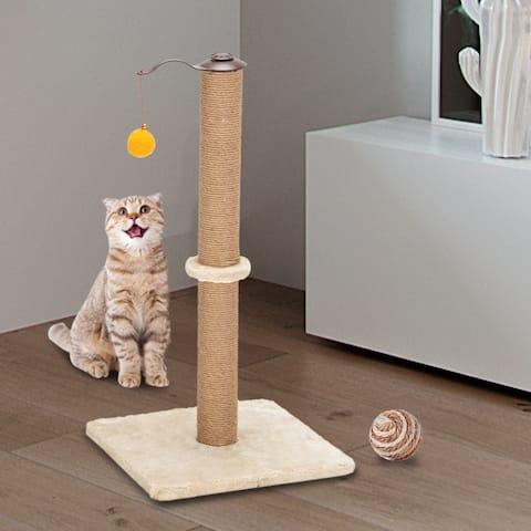 "26"" Rotatable Cat Tree Cat Scratching Sisal Post Tree"