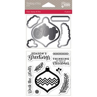 Jillibean Soup Shaker Clear Stamps Die Set Thinking Of You