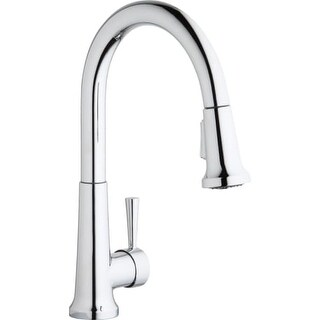 Elkay LK6000 Everyday Pullout Spray Single Handle Kitchen Faucet with High Arc Spout