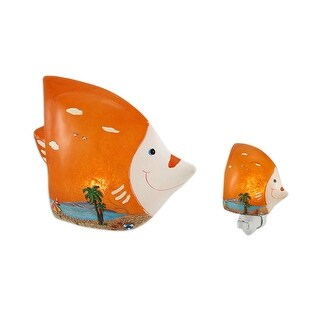 Tropical Fish Beach Themed LED Accent Lamp/Night Light Set