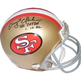 6bc66c1ef Shop Dwight Clark signed San Francisco 49ers Full Size Replica TB Helmet  The Catch 11082 top siginsc - Free Shipping Today - Overstock - 19871464