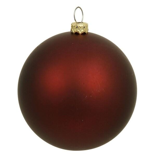 """Matte Burgundy Red UV Resistant Commercial Shatterproof Christmas Ball Ornament 6"""" (150mm)"""