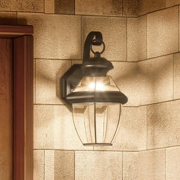 shop luxury colonial outdoor led wall light 12 5 h x 7 w with