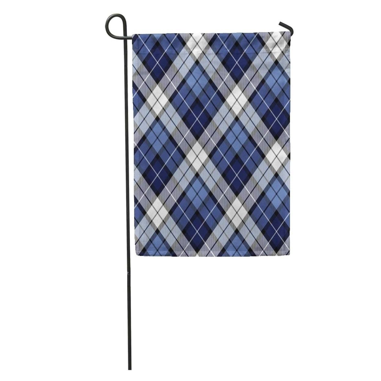 Scottish Checkered and HOME Garden Flag House Decor Waterproof Yard Banner