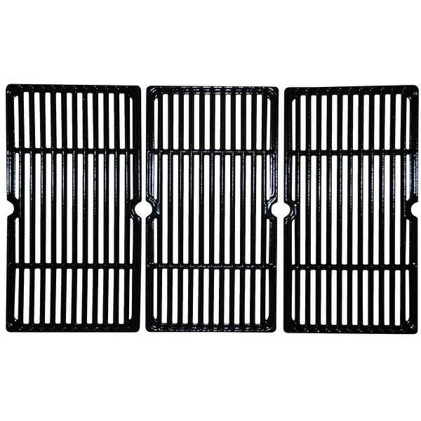 """3pc Gloss Cast Iron Cooking Grid for Backyard Grill and Charbroil Gas Grills 27"""" - N/A"""