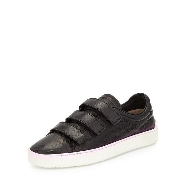 658f2349ba73b Shop Rag and Bone Men s Kent Black Leather Velcro Sneakers - Free Shipping  Today - Overstock - 19397183