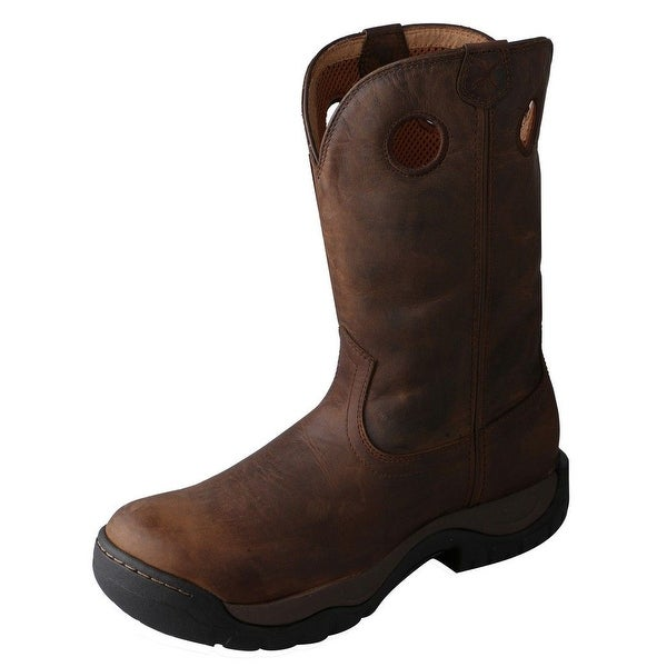 Twisted X Western Boots Mens All Around Waterproof Taupe