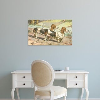 Easy Art Prints Unknown's 'Man's Best Friend X' Premium Canvas Art