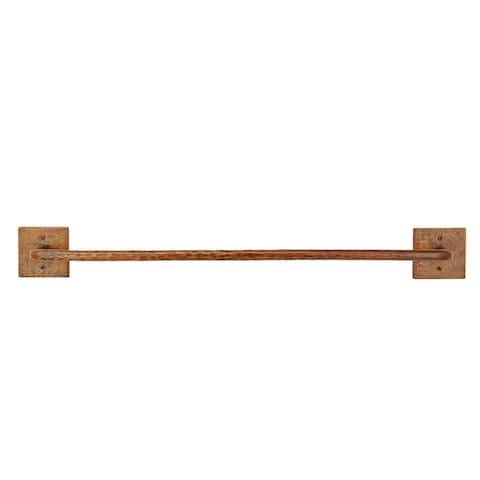 """Premier Copper Products TR30DB 30"""" Towel Bar Hand Hammered Copper - Oil Rubbed Bronze"""
