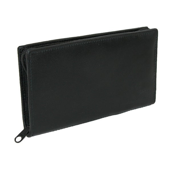 Paul & Taylor Leather Zippered Checkbook Cover and Wallet - One size