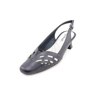 Easy Street Adorable Women N/S Square Toe Synthetic Blue Slingback Heel (Option: 8.5)