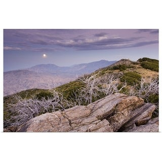 """Rising moon over San Jacinto Valley, seen from the Pacific Crest Trail, California"" Poster Print"