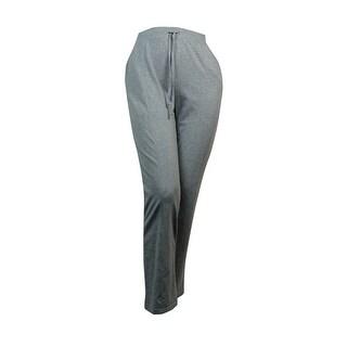 Karen Scott Women's Drawstring Pull-On Knit Pants - XL