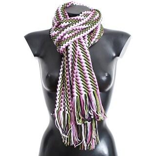 Missoni Multicolor zig zag pattern wool scarf - One Size
