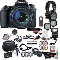 Canon 77D DSLR Camera w/ Canon 18-55mm Lens Filmmaker Kit Intl. Model