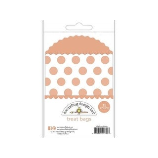 Doodlebug Kraft/Color Treat Bags Dots Coral