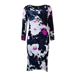 International Concepts Women's Ruched Tulip Dress - s
