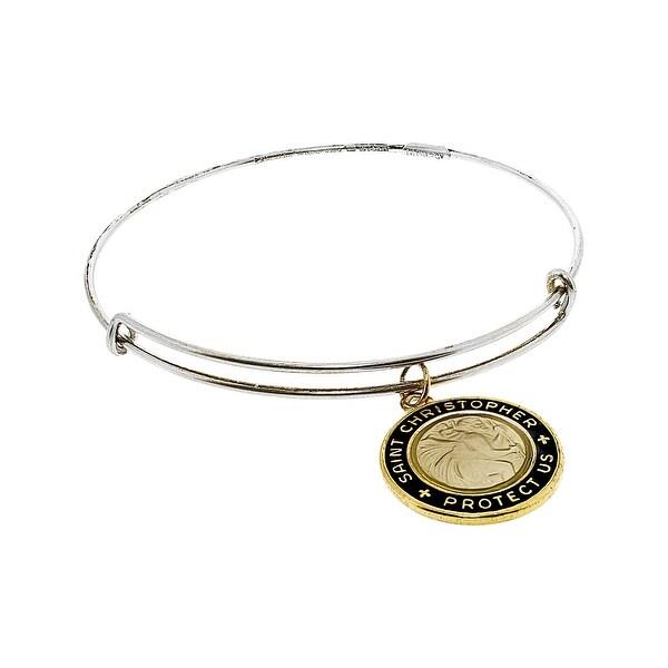 ddb3f5032cc Shop Alex And Ani Women's Black Enamel St. Christopher Charm Bangle Bangle  Bracelet - 7