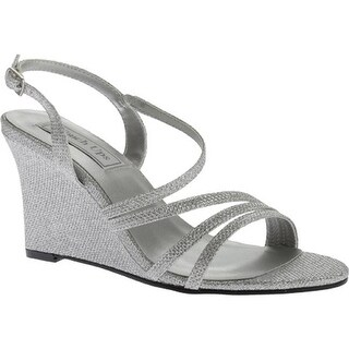 Touch Ups Women's Phyllis Wedge Sandal Silver Shimmer