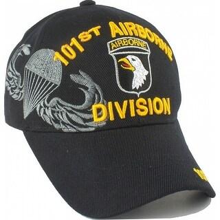 101st Airborne Division Shadow Mens Cap (Black - Adjustable)