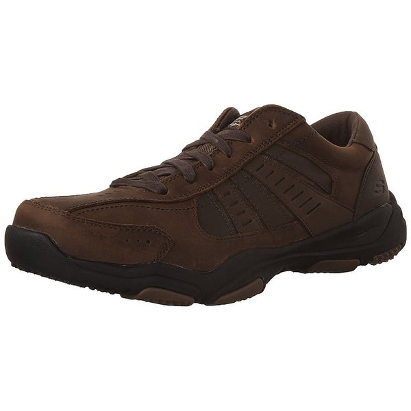 Skechers USA Men's Larson Nerick Oxford, Dark Brown