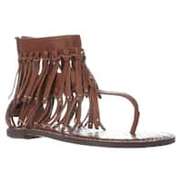 Sam Edelman Griffen Gladiator Fringe Sandals, Saddle Leather - 6 us / 36 eu