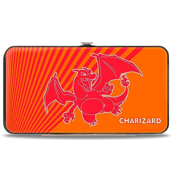 Charizard Pose Orange Red Hinged Wallet - One Size Fits most