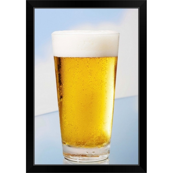 """Beer"" Black Framed Print"