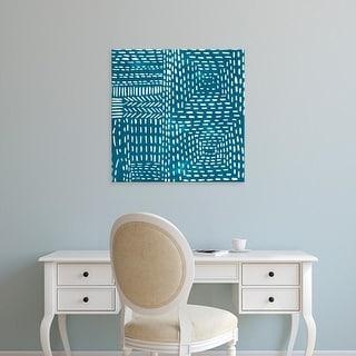 Easy Art Prints Chariklia Zarris's 'Sashiko Stitches I' Premium Canvas Art