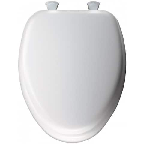 Mayfair 113EC-000 Elongated Cushioned Toilet Seat, Vinyl, White