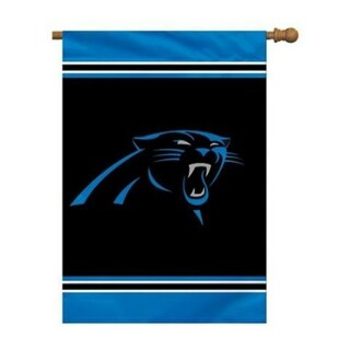 Fremont Die, Inc. Carolina Panthers House Banner 1- Sided House Banner 1 Sided