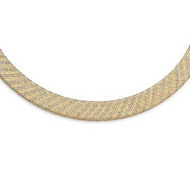 Italian 14k Two-Tone Gold Fancy Necklace - 17.75 inches