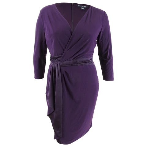 American Living Women's Ruffled Jersey Dress (14, Purple) - Purple - 14