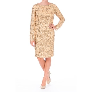 Sue Wong Womens Mesh Embellished Cocktail Dress - 6