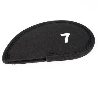 Unique Bargains Golf Head Cover Club Iron Putter Head 7 Wedge Protector Case Black