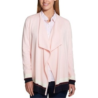 Link to Tommy Hilfiger Womens Draped Cardigan Sweater Similar Items in Women's Sweaters