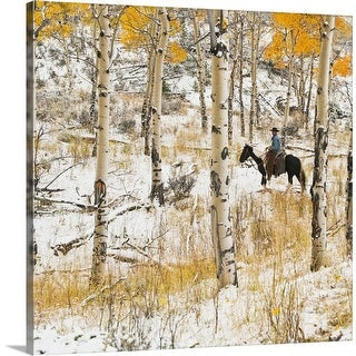 """Horseback Rider"" Canvas Wall Art"