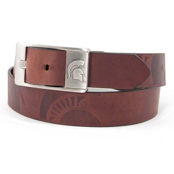 Michigan State University Brandish Leather Belt