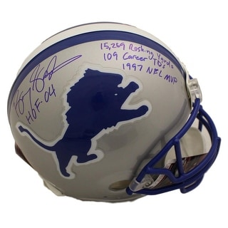 buy popular e2573 87097 Shop Barry Sanders Signed Framed 16x20 Detroit Lions White ...