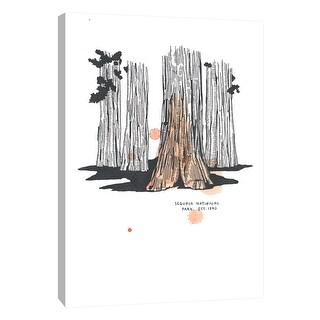 "PTM Images 9-105643  PTM Canvas Collection 10"" x 8"" - ""Nation Park Sequoia"" Giclee Abstract Art Print on Canvas"