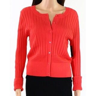 Classiques Entier Orange Womens Size Large L Cardigan Sweater