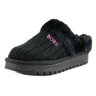 Bobs by Skechers Keepsakes Kids Youth Round Toe Synthetic Black Slipper