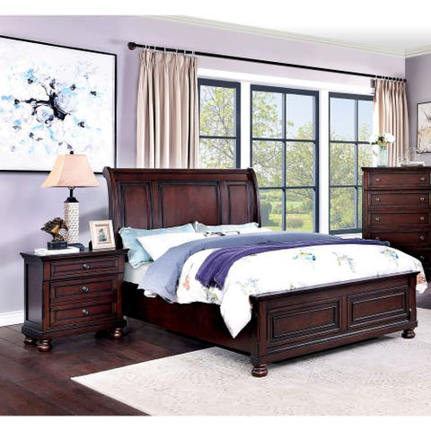 Furniture of America Boeh Transitional Cherry 2-piece Bedroom Set