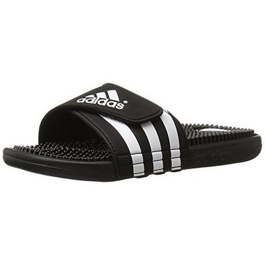 Adidas Mens Adissage, Black/White/Black